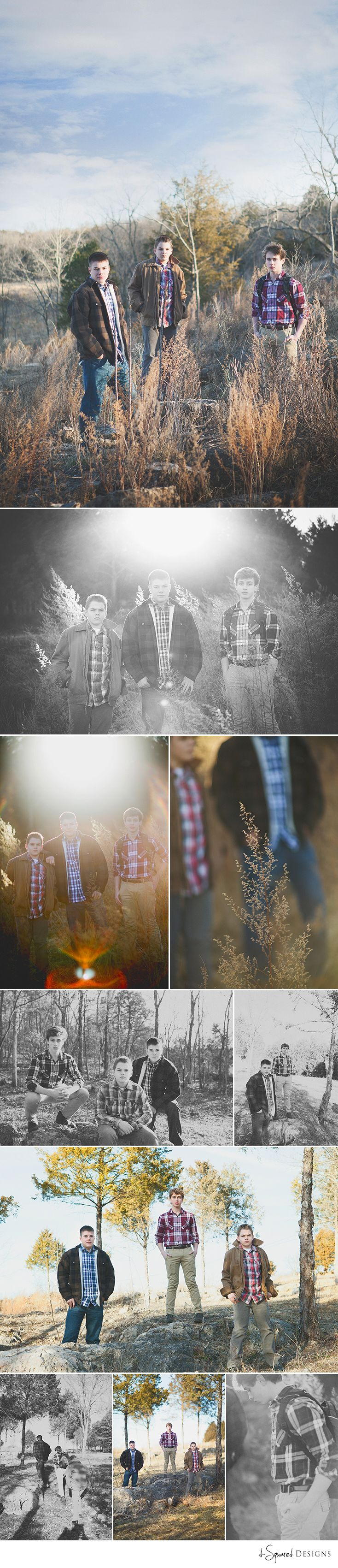 Rustic outdoor shoot, senior guys. Group of guys. Guy posing. d-Squared Designs St. Louis Senior Photography