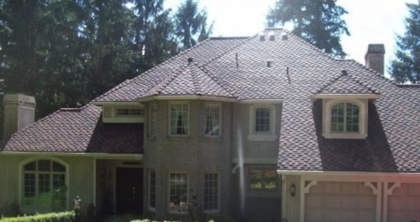 Roof replacement project using CertainTeed Presidential TL roofing shingles in the color Aged Bark. Installed by Cornerstone Roofing — www.cornerstoneroofing.com