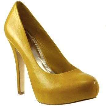 AVERY PLATFORM PUMP - Wedding Yellow