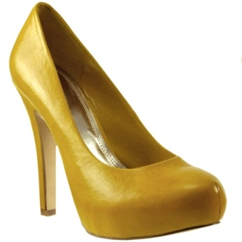 AVERY PLATFORM PUMP - Wedding Yellow