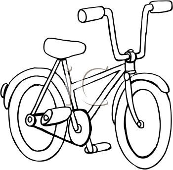 Bicycle In Black And White Clip Art Free Clip Art Clipart Black And White