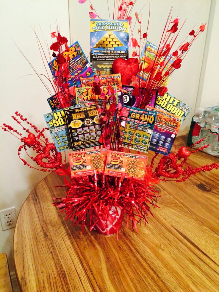 Valentine S Day Scratch Ticket Bouquet For My Boyfriend