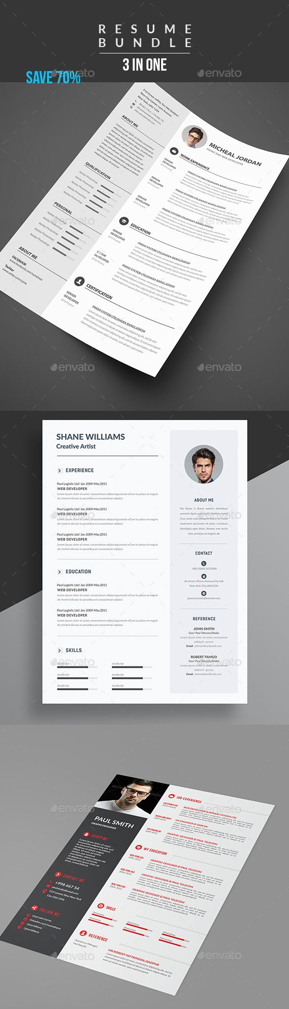 Cv Templates Design%0A Resume Bundle