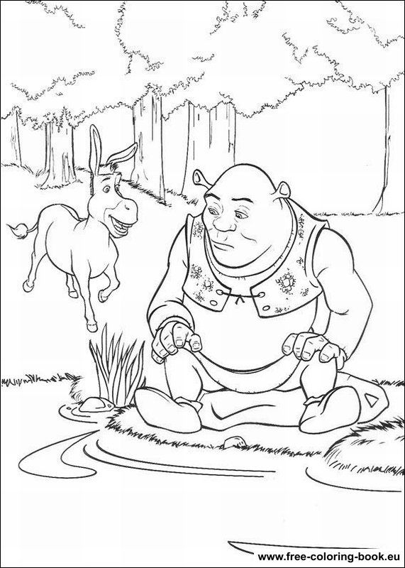 The 36 best images about shrek on Pinterest Colouring Free