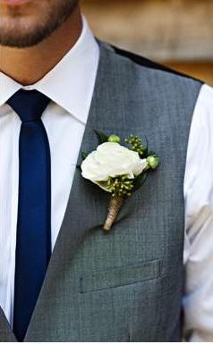 groomsmen! But black tie blue shirt