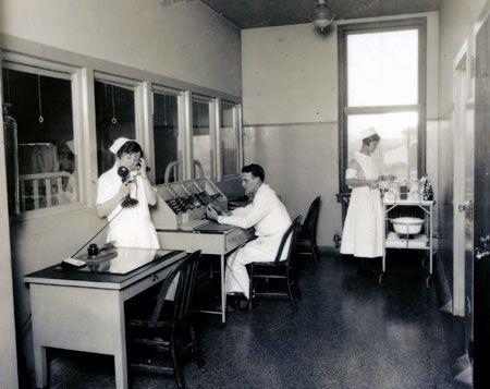 Nurses station located in Vanderbilt Hospital