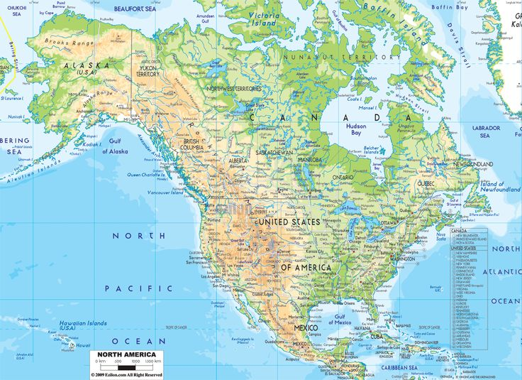 The Best Map Of North America Ideas On Pinterest Map America - Blank physical map of us and canada