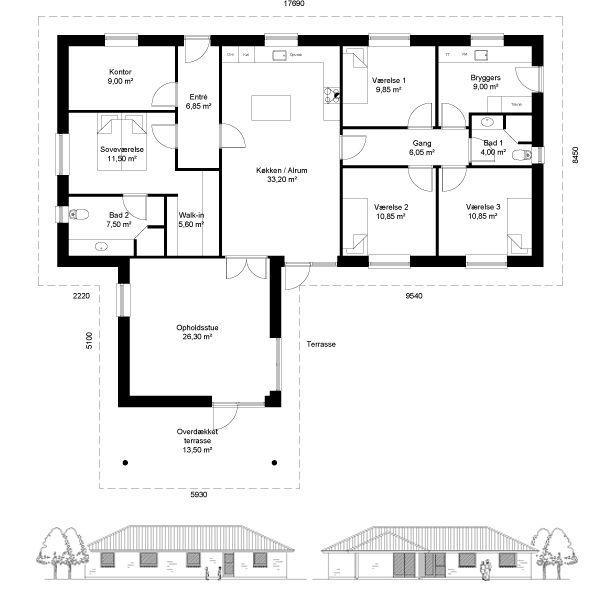 180/13,5 m² // Huscompagniet