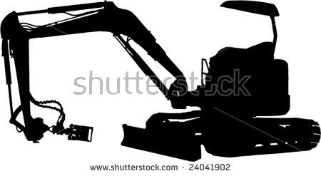 Mechanical Digger silhouette  #mechanicaldigger #silhouette #illustration