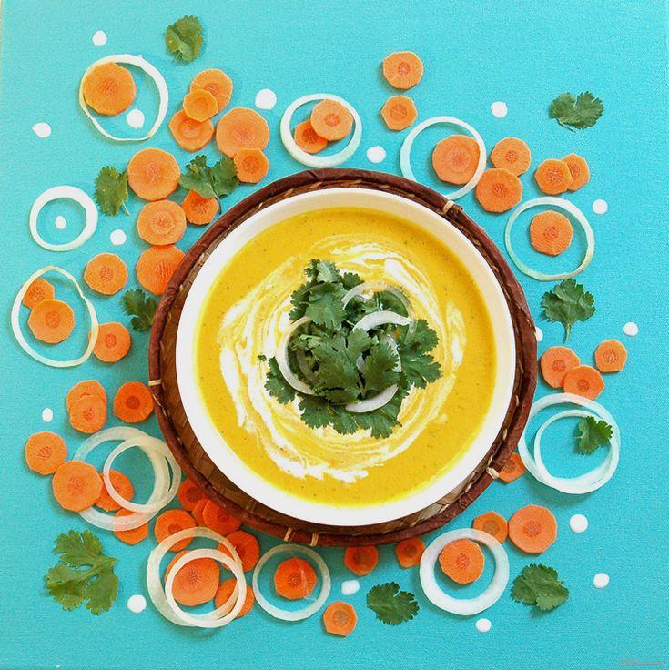 Soupe Carotte Curry Coco // Carrot Curry Coco Soup Chhhop.com
