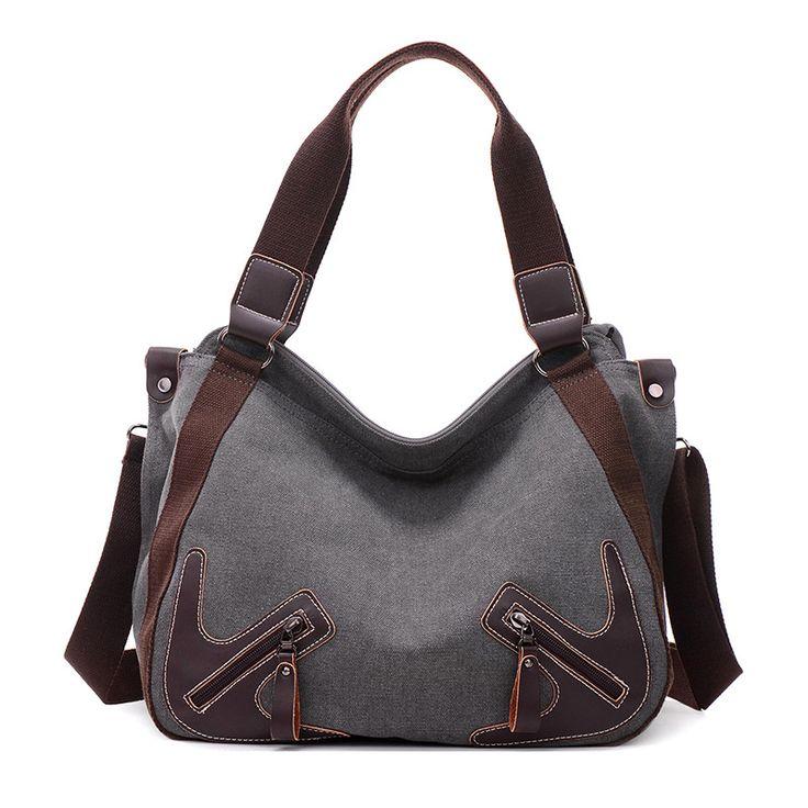 Fabra Fashion Vintage Canvas New Handbags Women Bag Big Hobo Purses and Ladies Shopper Tote Designer Cross Body Messenger Bag
