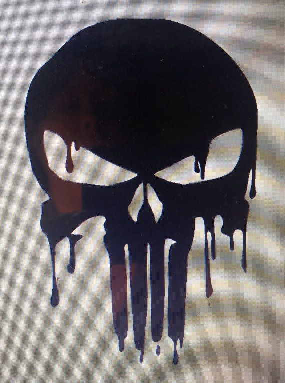 Hey, I found this really awesome Etsy listing at https://www.etsy.com/listing/210872840/punisher-skull-drippy-vinyl-decal