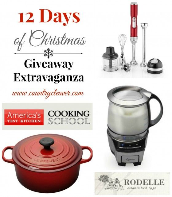 Day 1 of The 12 Days of Christmas Giveaways :: Le Creuset French Oven - Country Cleaver