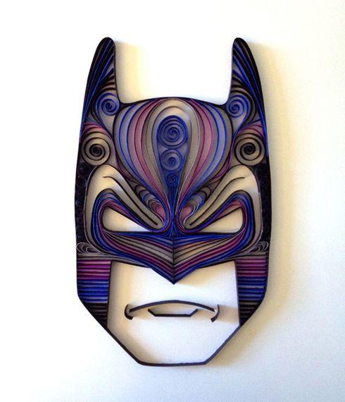 Wow! Batman Quiling! Arte feita com papel! #craft