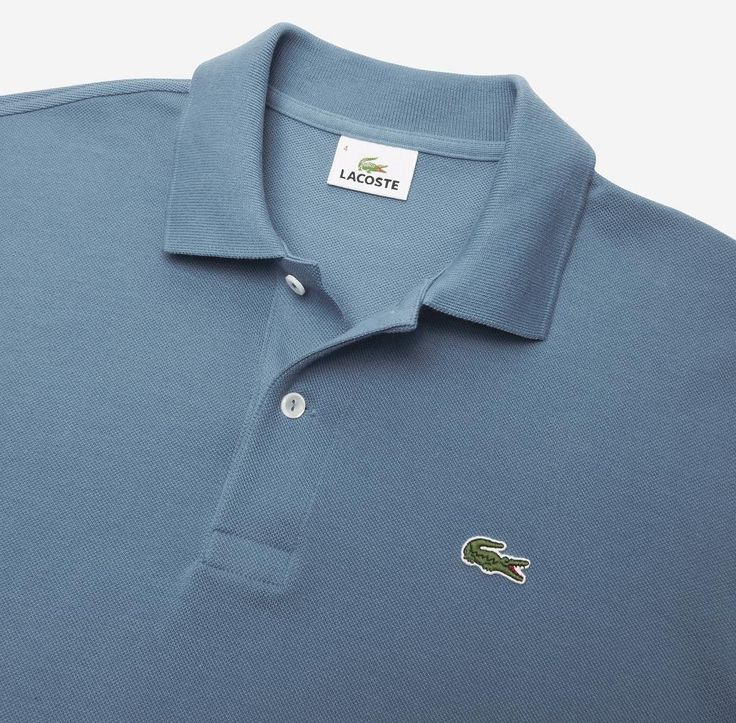 The blue L.12.12 Original Cotton Piqué polo is Rene Lacoste's iconic creation. A must have in multiple colors.