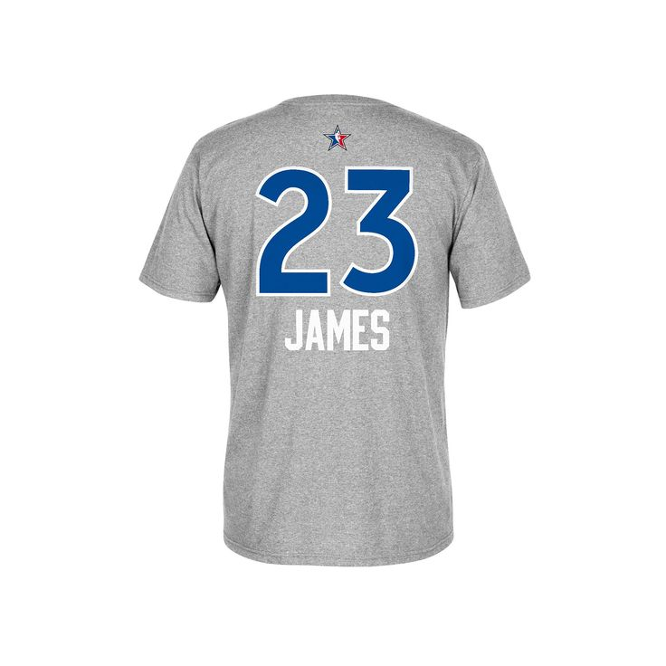 Men's Adidas Cleveland Cavaliers LeBron James All-Star Name & Number Tee, Size: Large, Red