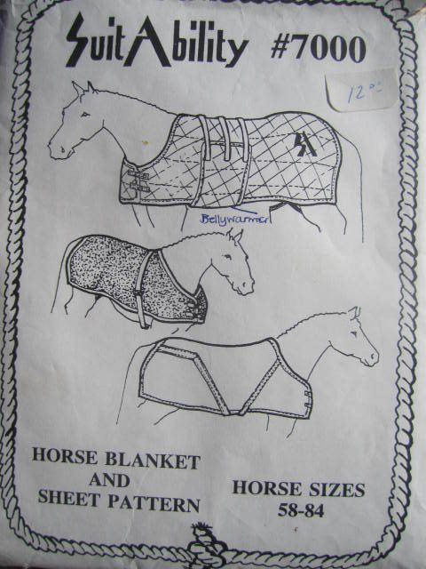 See Sally Sew-Patterns For Less - Equestrian Horse Blanket