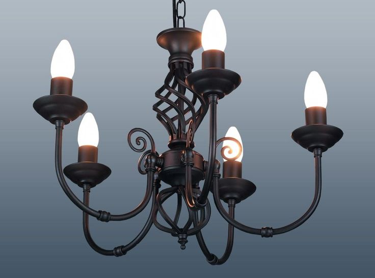 Lovely Details About 5 Arm Chandelier Traditional Barley Twist Ceiling Light  Fitting Pendant Black Part 21