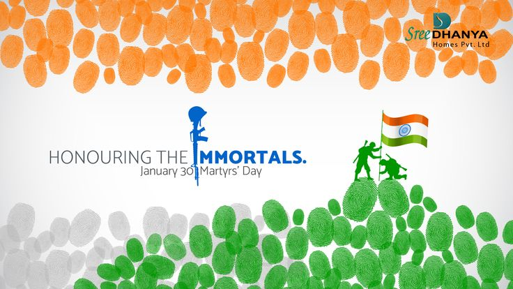 #Honouring the immortals... #January30 #Martyr's day https://goo.gl/fLEzd7