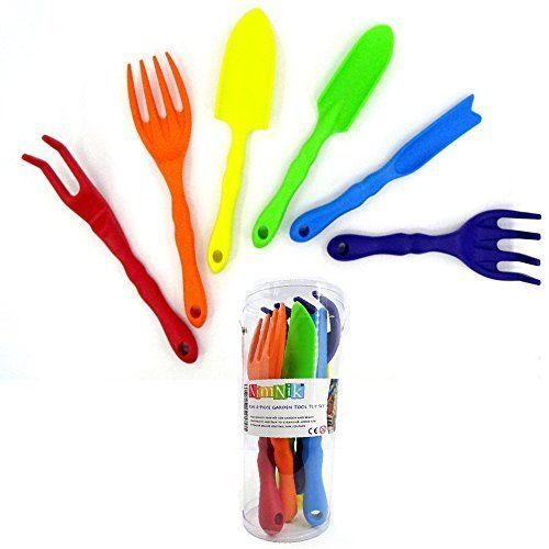 Kids Gardening Hand Tool Set Beach Toys 6 Piece Fun Play Children Boy Girl Gift #NimNik