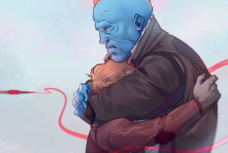 Nononono,  but image this is Peter running up to Yondu after some of the other Ravagers had been making fun of him or some other crap and Yondu just pulls him into a massive hug and whistles under his breath and all of the sudden the men chasing Peter freeze, staring at the arrow inches from their faces and they see the expression on Yondu's face that says 'Leave the kid the hell alone'