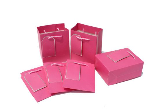 10 pcs 4x5x2.5inch / 11x14x6.5Cm / Pink Color / Mini by EnGREEN