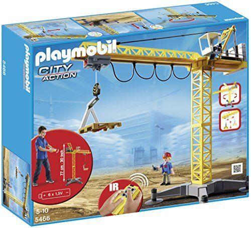 Playmobil - 5466 - Figurine - Grande Grue De Chantier Avec Télécommande Infrarouge: Cet article Playmobil - 5466 - Figurine - Grande Grue…