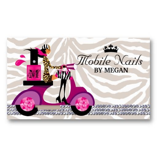 19 best nails business card images on pinterest manicures nail nail salon scooter girl fashion business card blac flashek Gallery