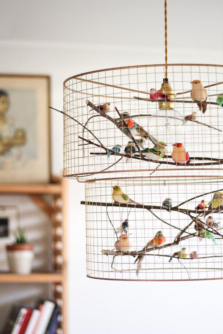 Copper Double Birdcage Pendant Light Chandelier By Kekoni On Etsy
