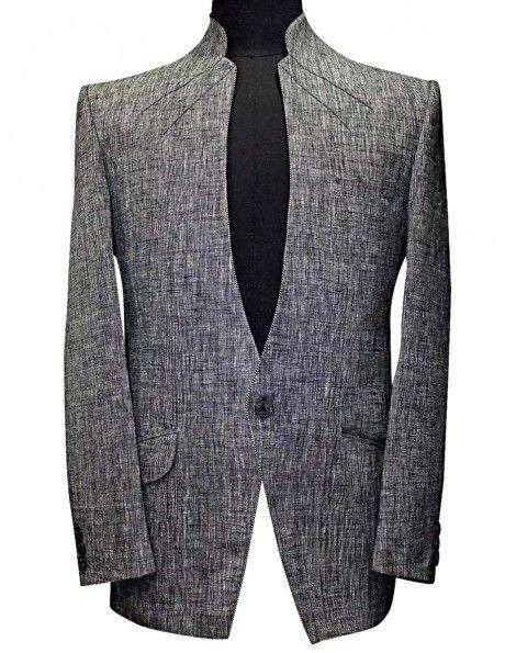 Bewitching Grey Blazer http://www.bharatplaza.com/mens-wear/mens-designer-suits/mens-blazer.html