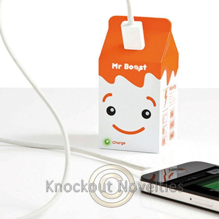 Portable Charger  Mr Boost Fun Funny Charging Utensile Novelty Gift Item #Unbranded