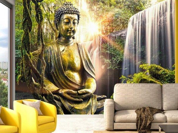 """Geniessen Sie Harmonie und Ruhe bequem in Ihrem Zuhause - ganz einfach mit einer Fototapete """"Buddhist Paradise"""" . Inspiration, Entspannung und Meditation… #fototapete #fototapeten #buddha #orient #artgeist #wanddekoration #deko"""