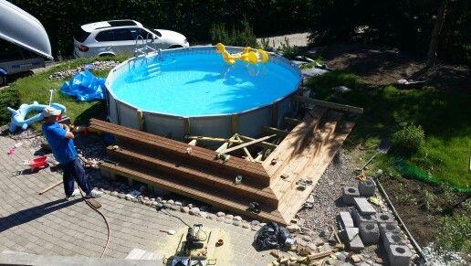 30 Best Above Ground Pool Decks Images On Pinterest