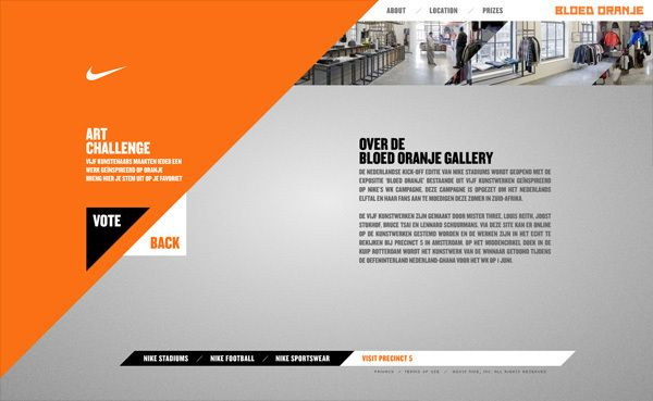 nike website http://www.behance/gallery/nike-bloed-oranje, Presentation templates