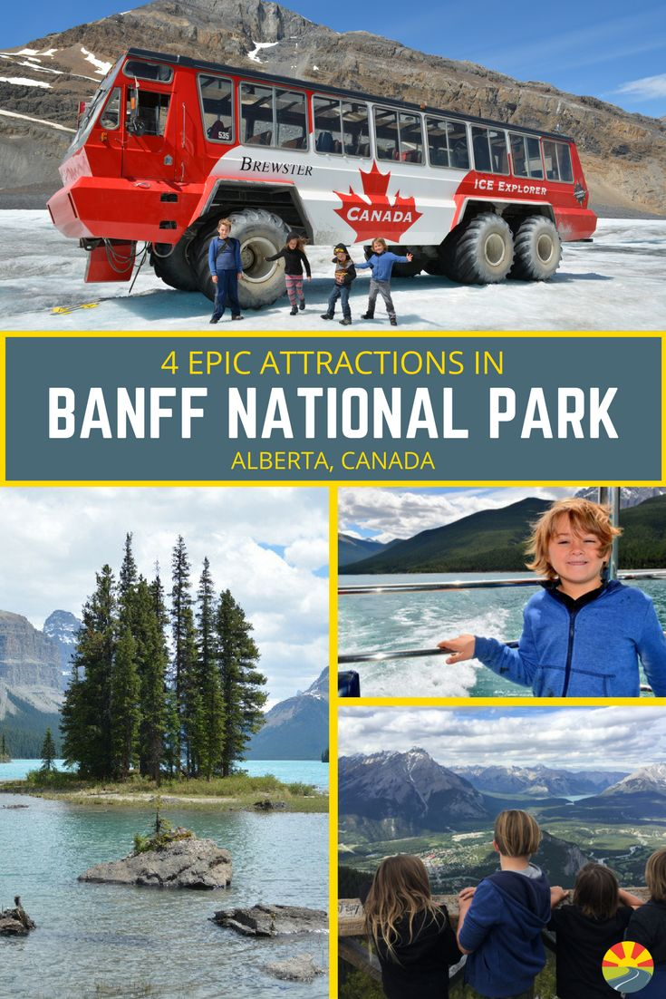 When visiting Banff National Park check out these epic attractions! From glacier walking to lake tours on the most beautiful water you've ever seen! via @Crazy Family Adventure