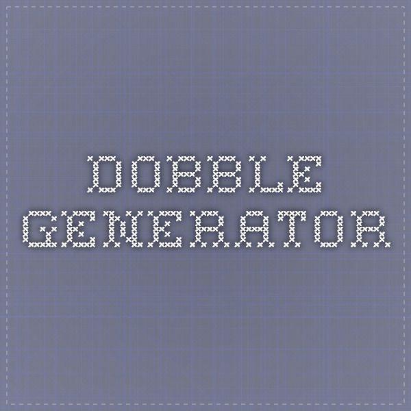Dobble Generator