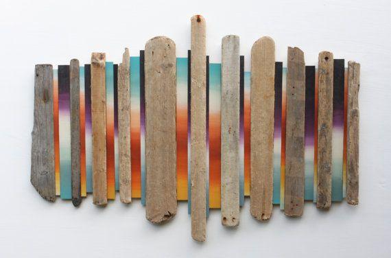 17 meilleures id es propos de art mural en bois flott for Decor mural bois flotte