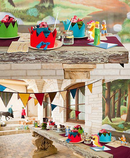 Fiesta de cumpleaños para caballeros y princesas - Decoración y piñatas - Fiestas y Cumples - Charhadas.com