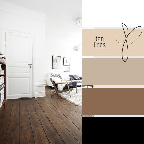 Bedroom Color Story Irish Cream Trim, taupe and brown walls with black & white bedding and accents