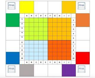 Koduj linię...gra logiczna ~ Kodowanie na dywanie