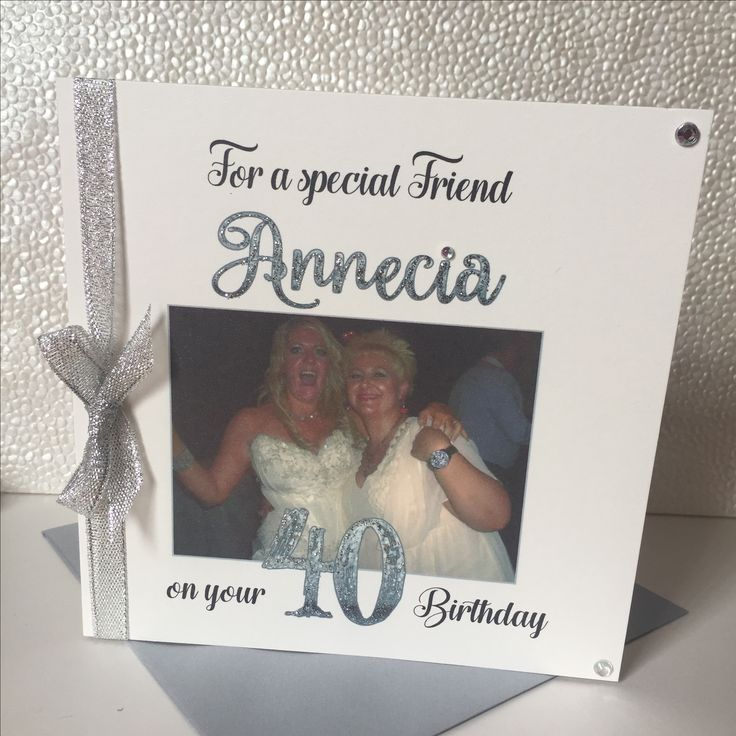 Personalised 40th Birthday card with photo