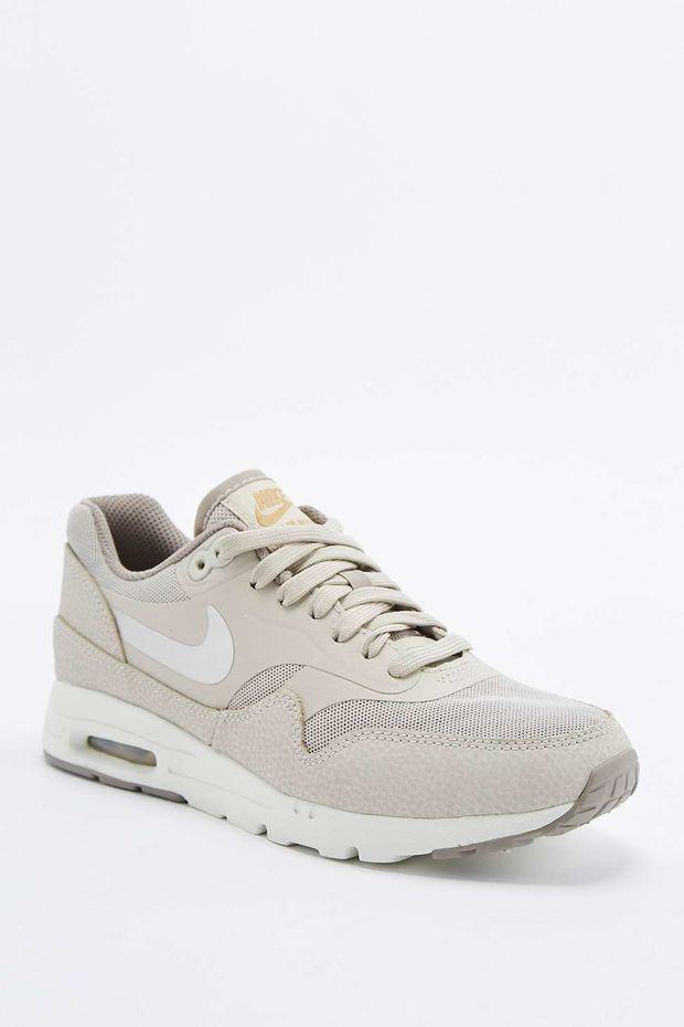 Chaussures De Sport Laag Wmns Air Max 1 Beige / Bleu Marine / Blanc Nike rRc46EGPBM