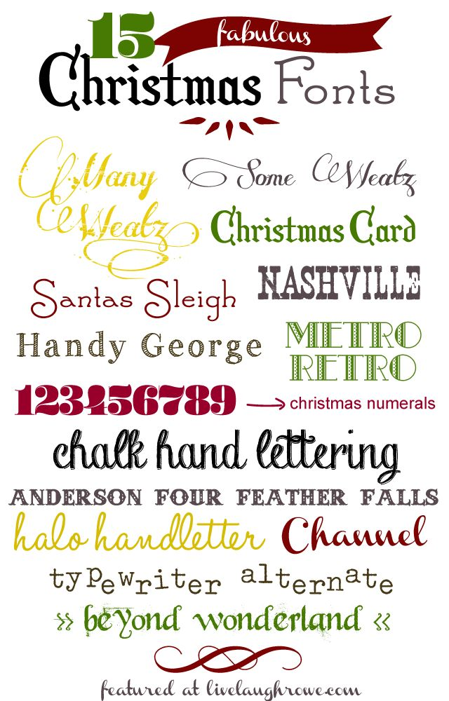 Fun, Festive and Fabulous Christmas Fonts with livelaughrowe.com