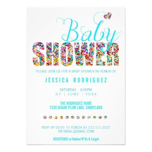 1000+ Images About Candy Baby Shower Invitations On Pinterest