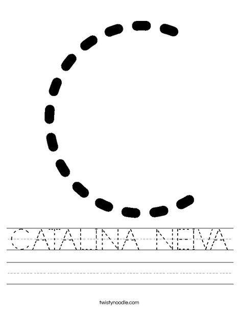CATALINA NEIVA Worksheet - Twisty Noodle | Letter c ...