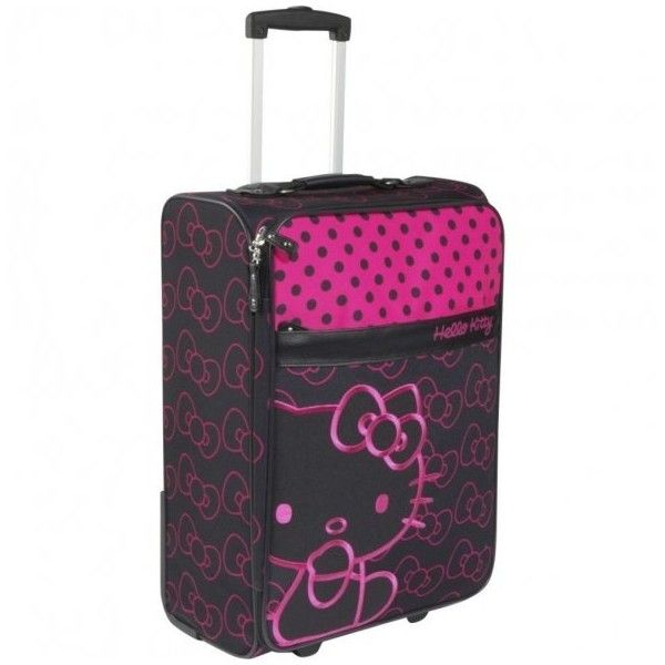Hello Kitty Suitcases ❤ liked on Polyvore featuring bags, luggage, hello kitty, bolsas and suitcases