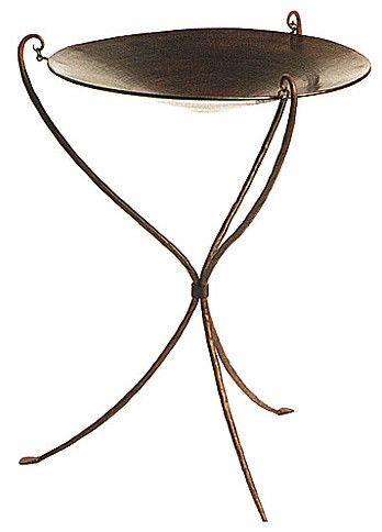 Hanging Copper Birdbath on Iron Stand - contemporary - bird baths - GI Designs