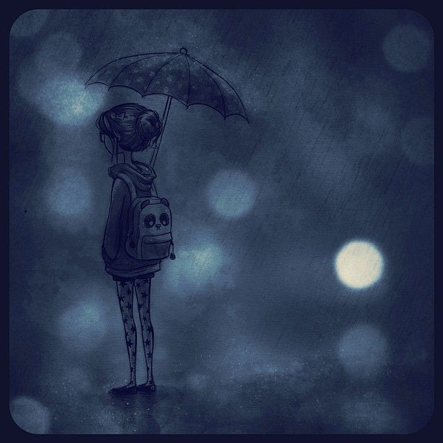 Rainy thoughts by lilibz on deviantART