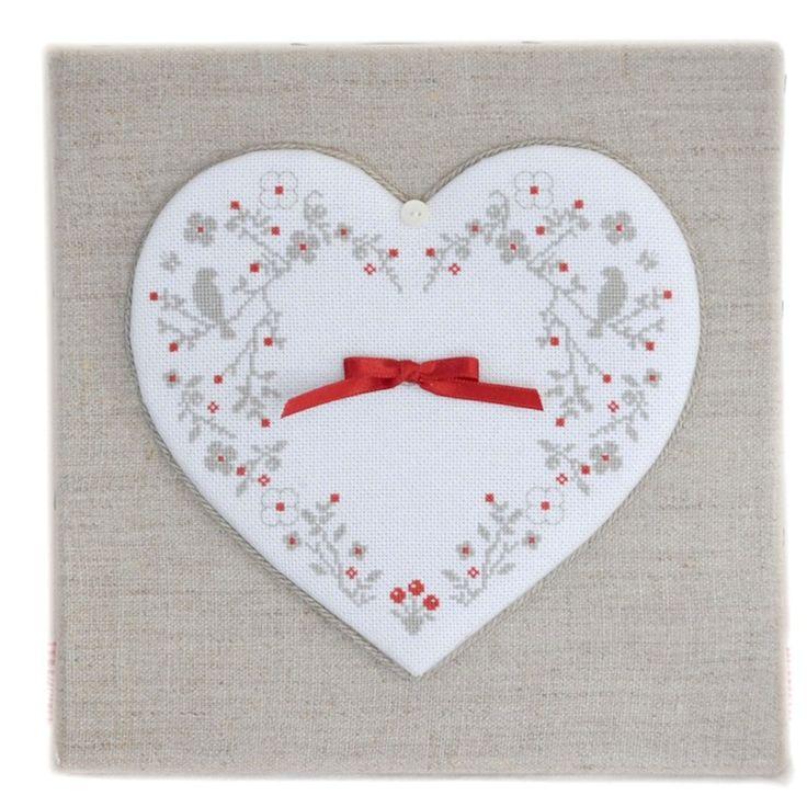 Broderie : Coeur de Coton : modèles de broderie au point de croix, point compté, grilles gratuites, fiche seule ou kit complet, toise, bannière, broderie sur lin, etamine ou aida, cross stitch pattern,