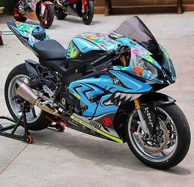 Awesome Paint Job! Love It!  #motorbike #motorcycle #bmw #sportbike